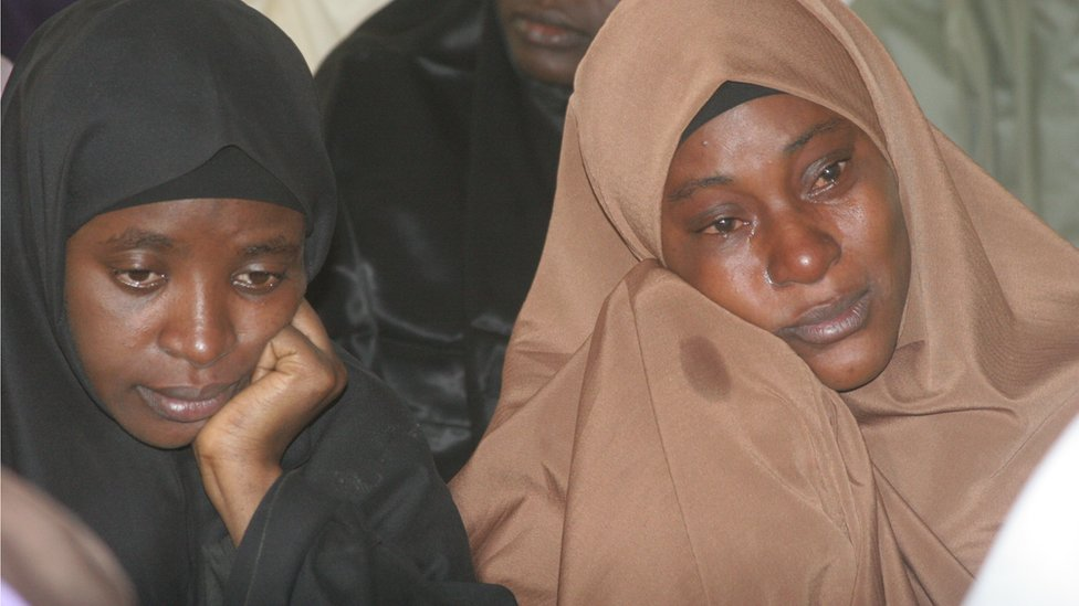 Shi-iites sect women reacts during a peaceful protest over illegal detention of El-Zazzaky and children in Kaduna, Nigeria on 5th January, 2016.