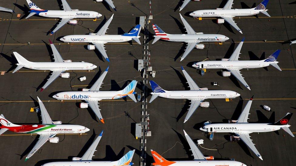 Pesawat Boeing 737 Max yang tak boleh mengudara di Seatle