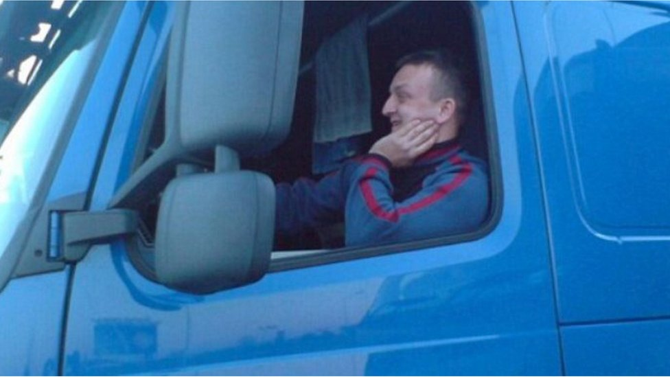 An archive image said to show murdered lorry driver Lukasz Urban