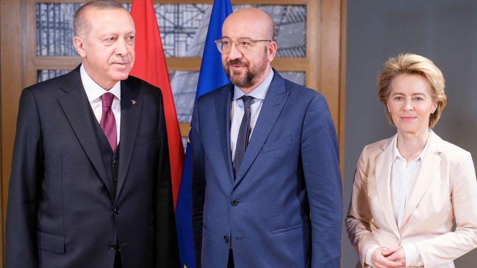 Erdogan, Michel, Leyen