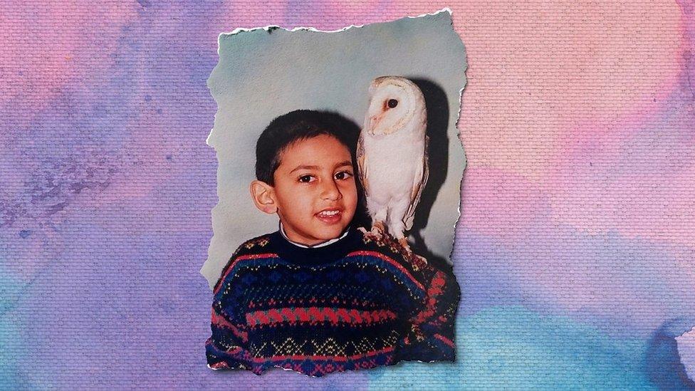 Jaabir Ramlugon cuando era un niño feliz.