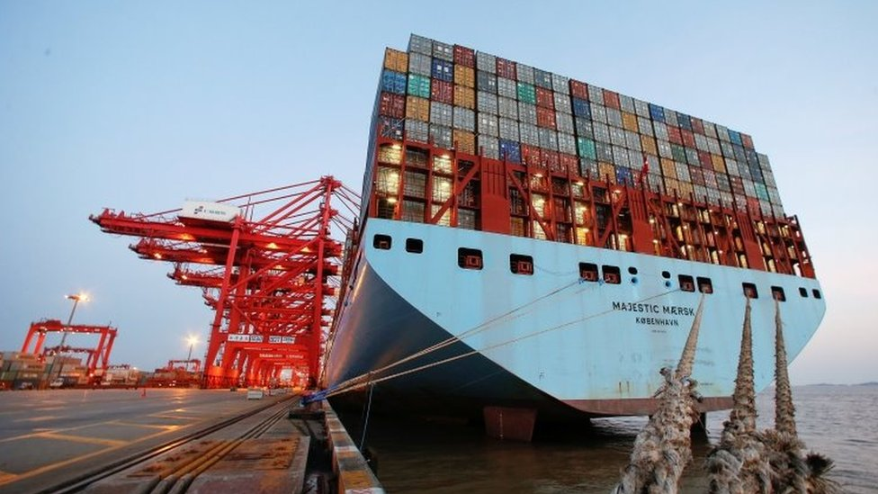 Navio cargueiro, em foto de 2016