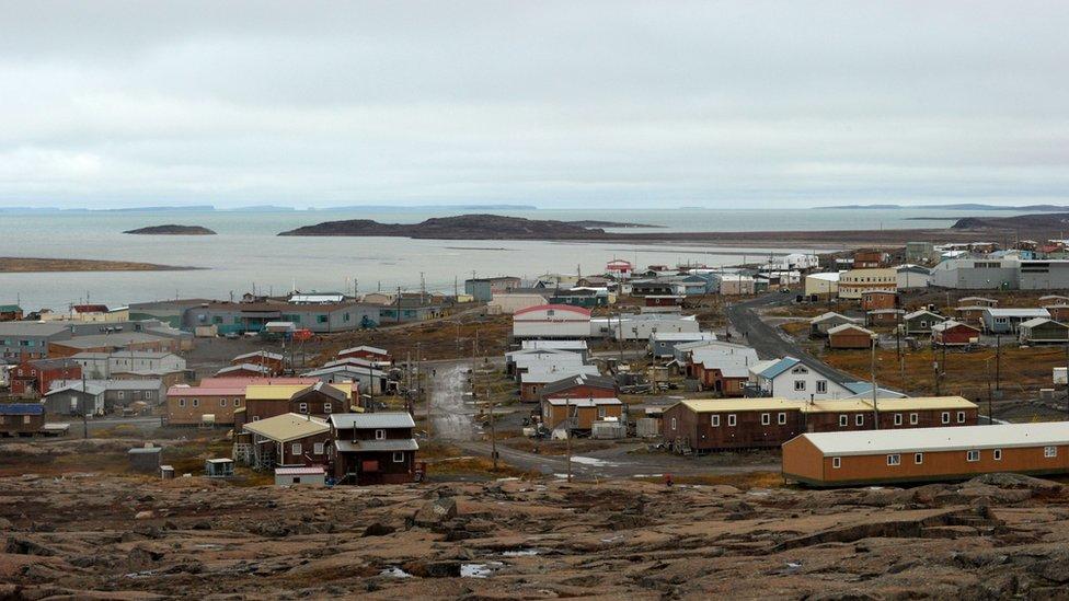 The Inuit hamlet of Kugluktuk, Nunavut, Canada