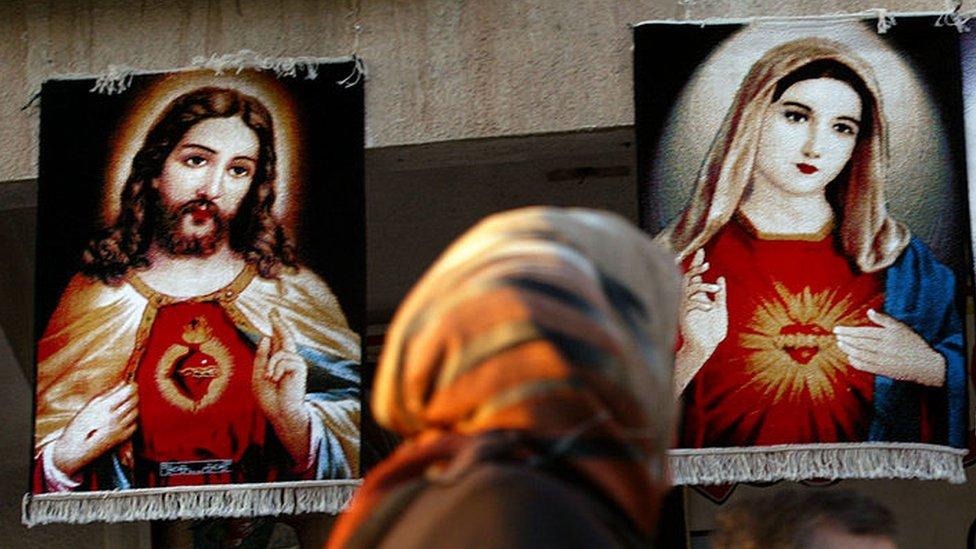 estampas de Jesús en Irak