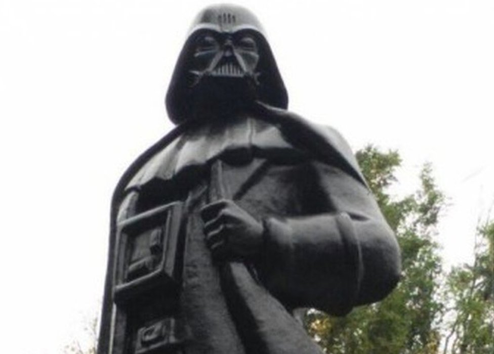 The Darth Vader statue