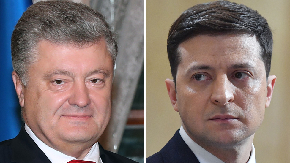 Ukraine awaits comic v oligarch presidential election debate