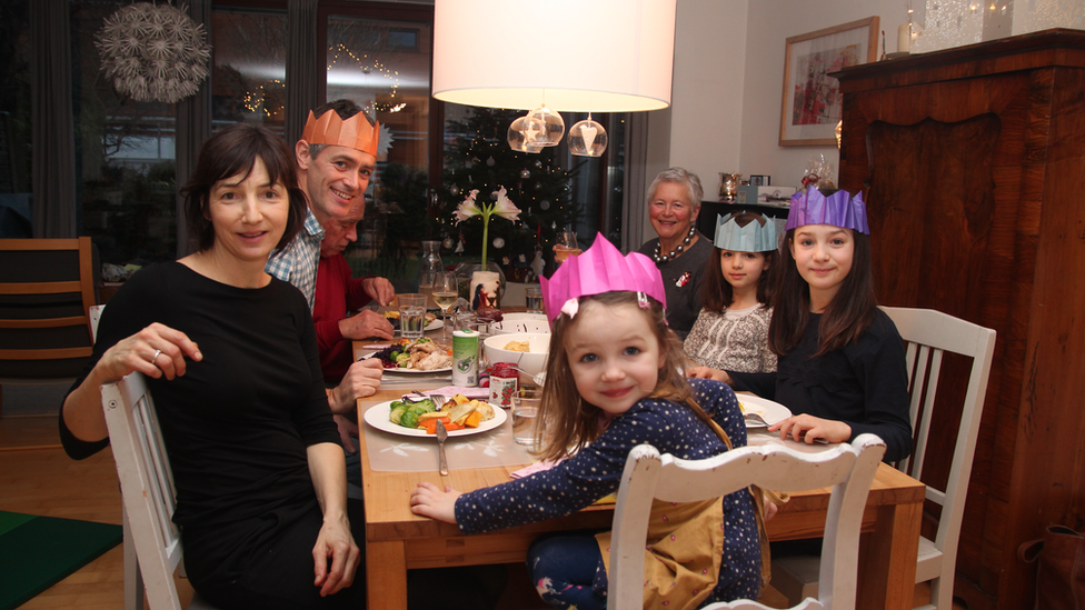 Image shows the Crewe family last Christmas