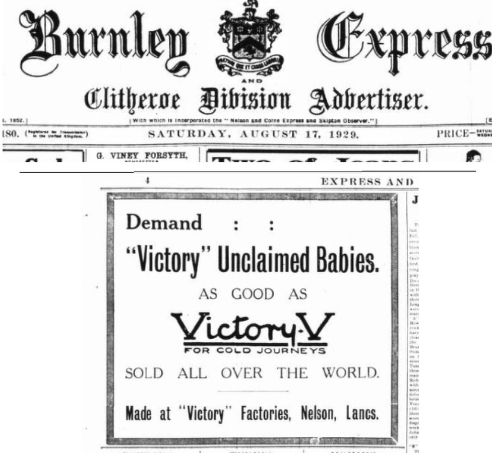 Ad from the Burnley Express
