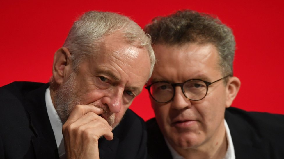 Jeremy Corbyn and Tom Watson at Labour's 2018 conference