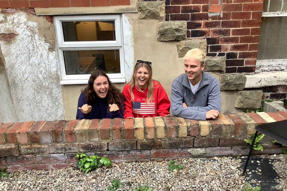 Amelia, Ruby and Pav preparing for seven days of fun