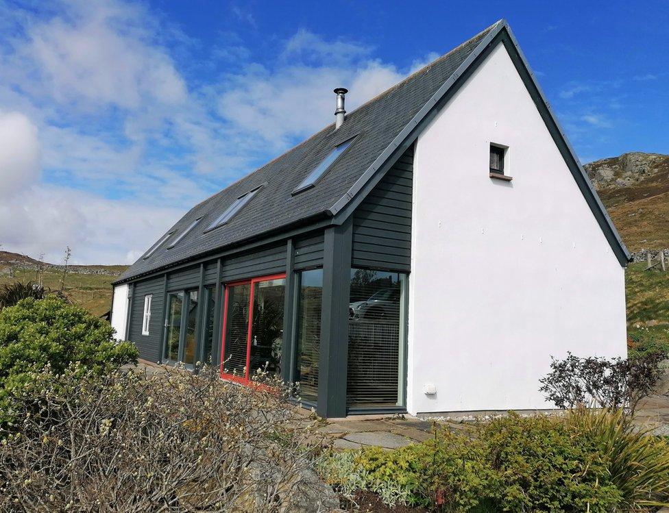 The Malcomson family home in Nesting, Shetland