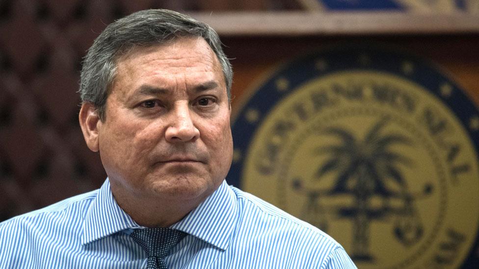 Guam's Governor Eddie Calvo