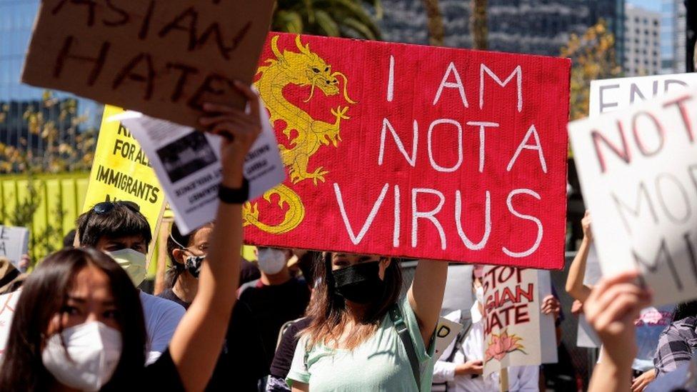 美國亞裔抗議