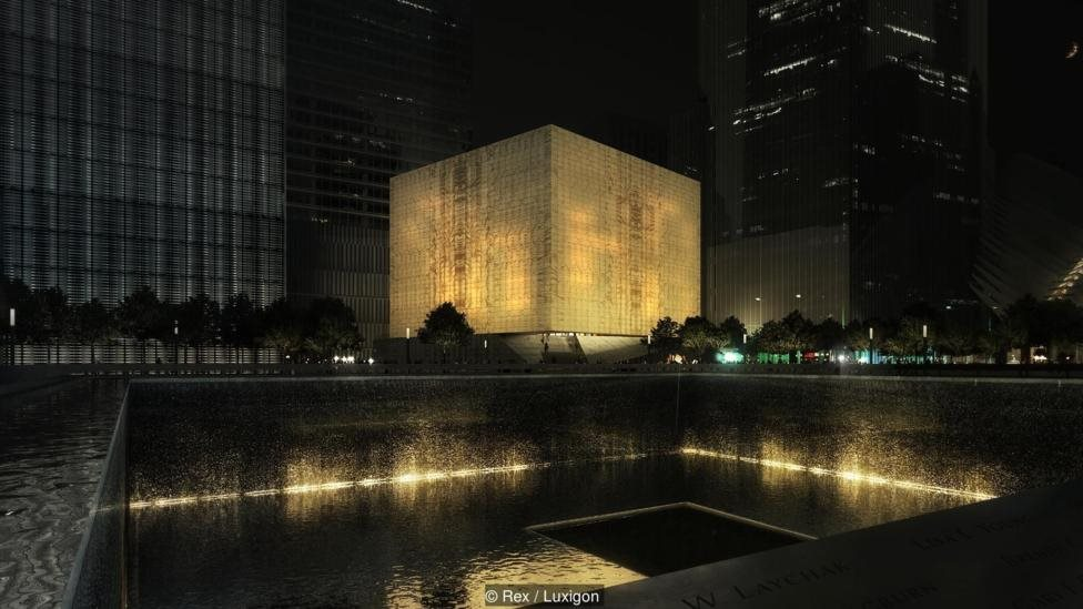 The Ronald O Perleman Performing Arts Center di New York, di lokasi bekas World Trade Center, akan ditutupi oleh marmer tembus pandang.