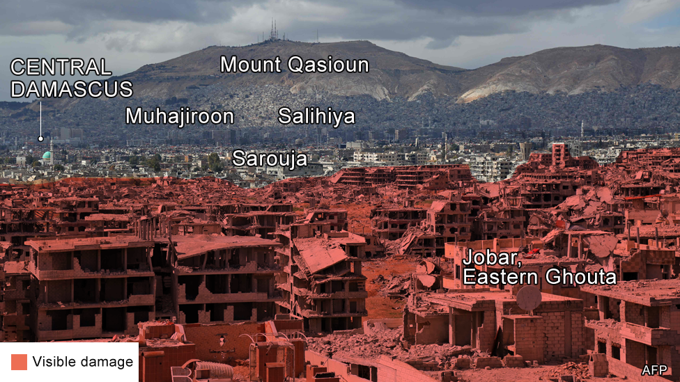 Image of damage in Eastern Ghouta, Damascus