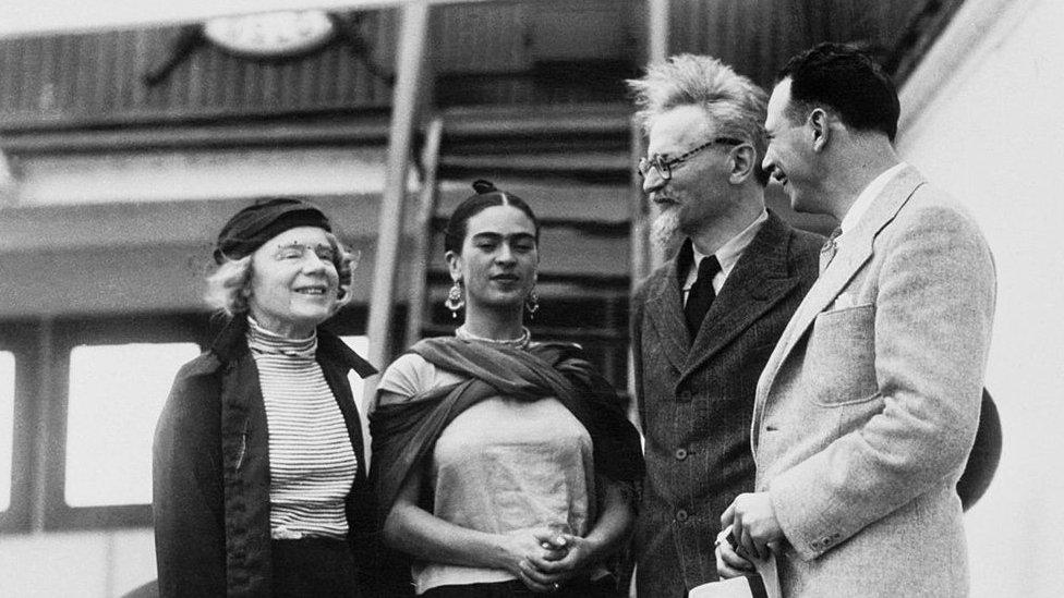 Frida Kahlo y León Trotsky