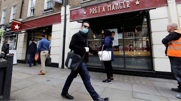 Pret三明治連鎖店在新冠病毒疫情解封後重新開張(Credit: Getty Images)