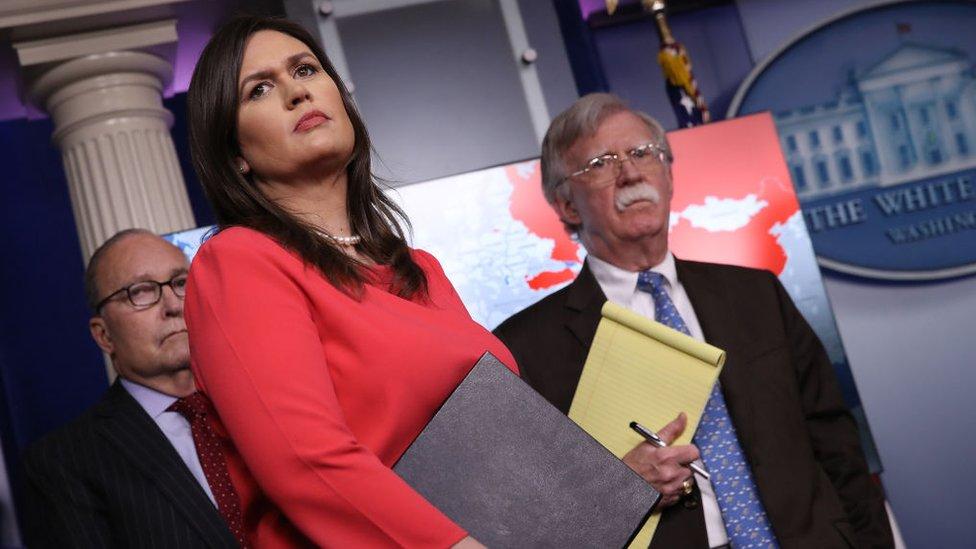 Sarah Sanders, secretaria de prensa de la Casa Blanca