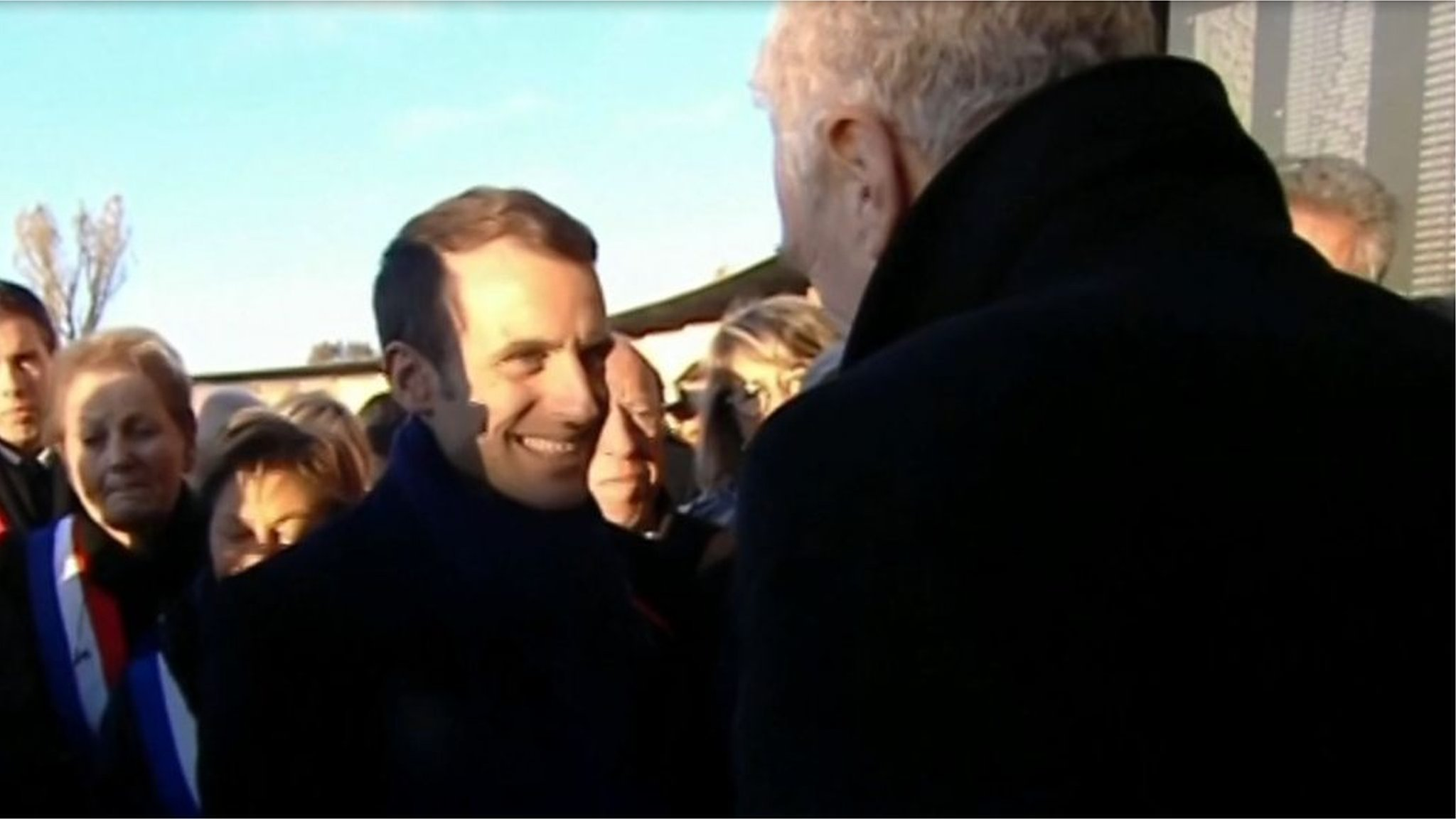 President Macron salutes BBC man's 'beautiful' WW1 story