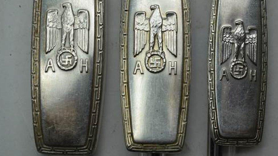 Adolf Hitler cutlery sells for £12,500 in Dorset