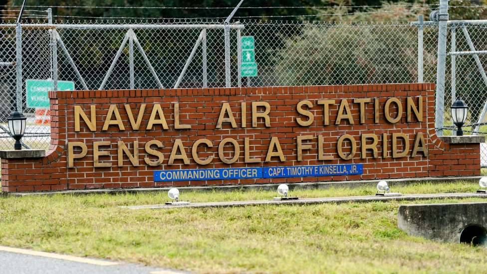 Sign outside Pensacola Naval Air Station