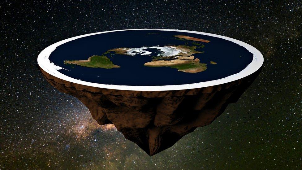 Recreación de cómo sería una Tierra plana.