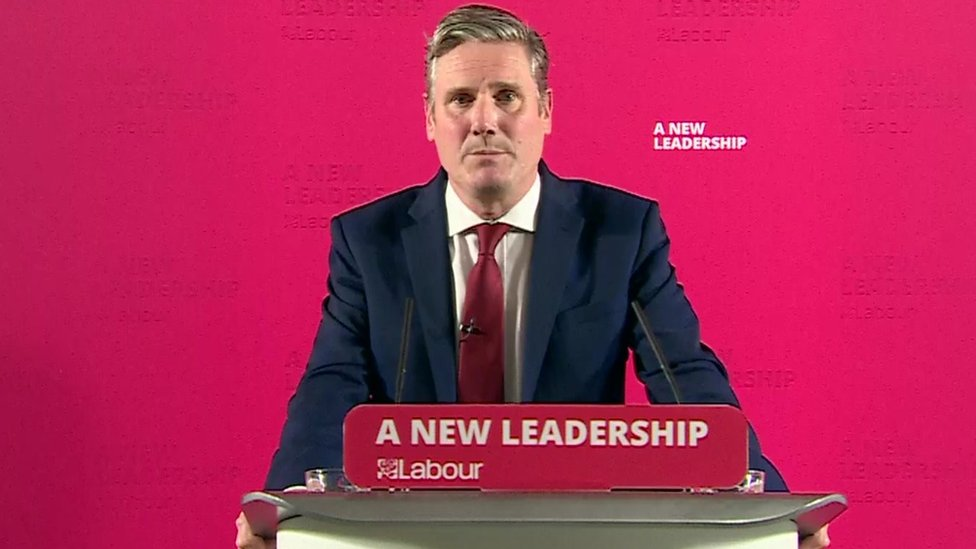 Sir Keir Starmer on 13 October 2020, making his announcement on a Covid circuit breaker plan