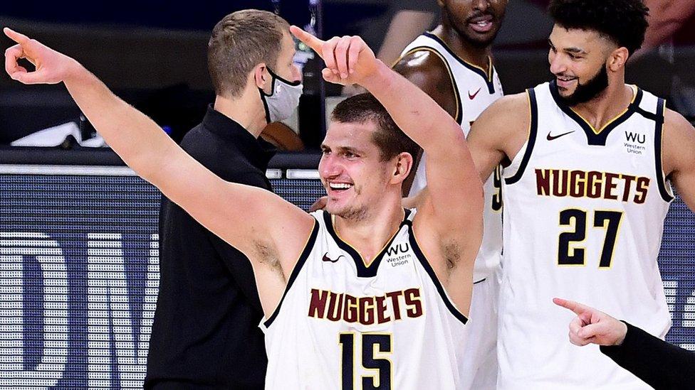 Denver Nuggets celebrate