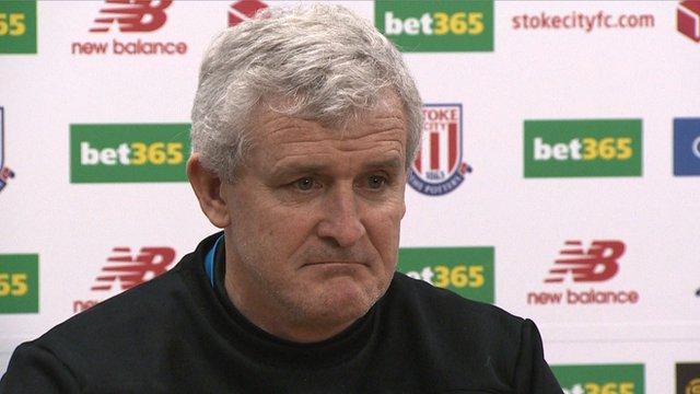 Stoke City boss Mark Hughes