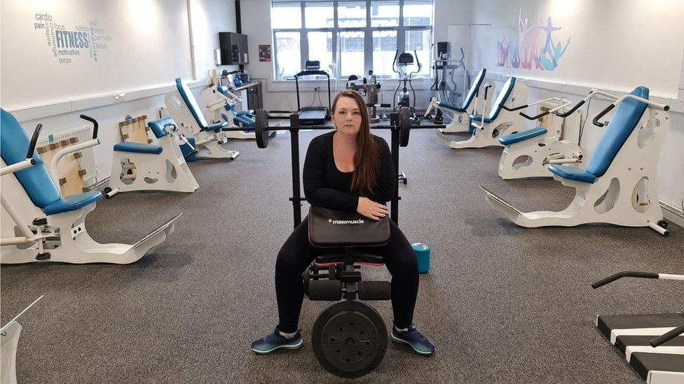 Anna Price in the gym