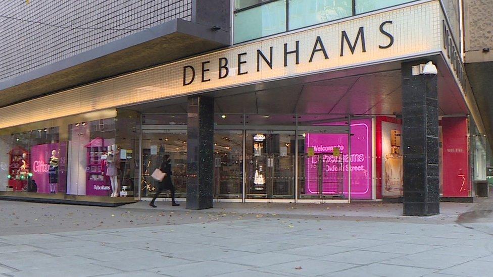 Debenhams in Oxford Street