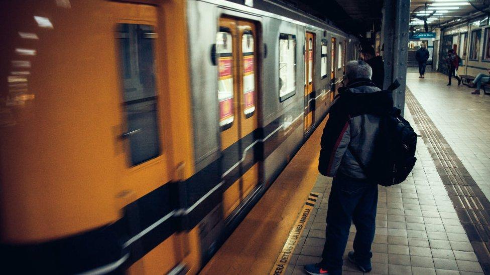 Buenos Aires metro train