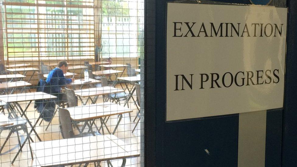 Examination sign
