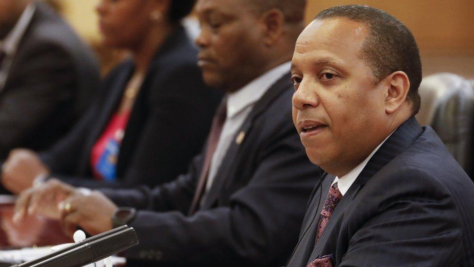 Sao Tome's prime minister, Patrie Emery Trovoada