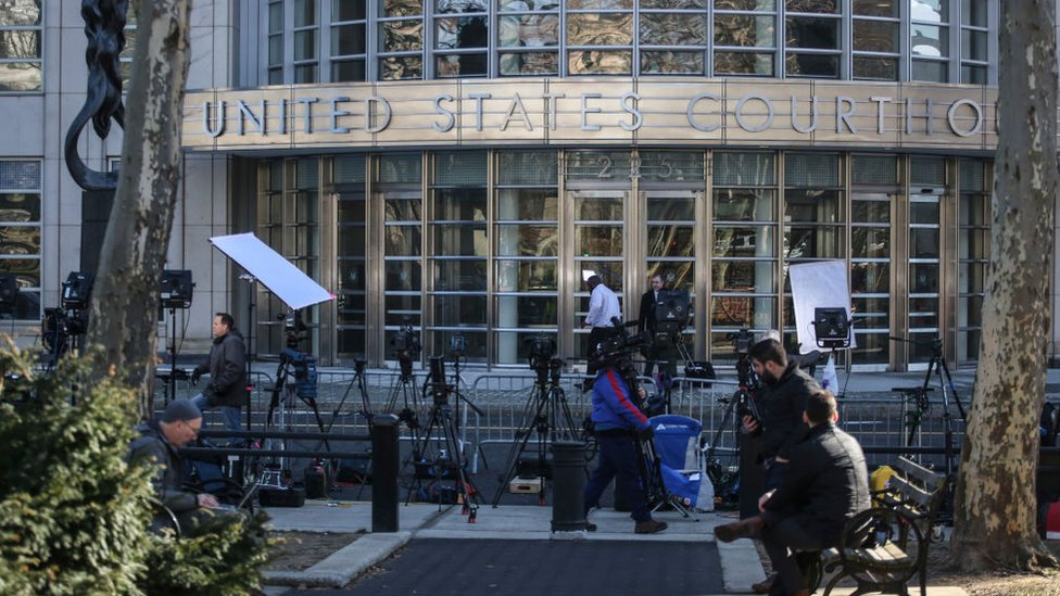 Foto de la corte de Nueva York donde se juzgó a El Chapo.