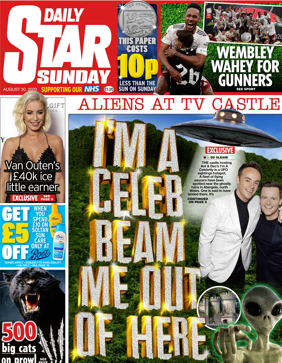 The Daily Star Sunday front page 30 August 2020