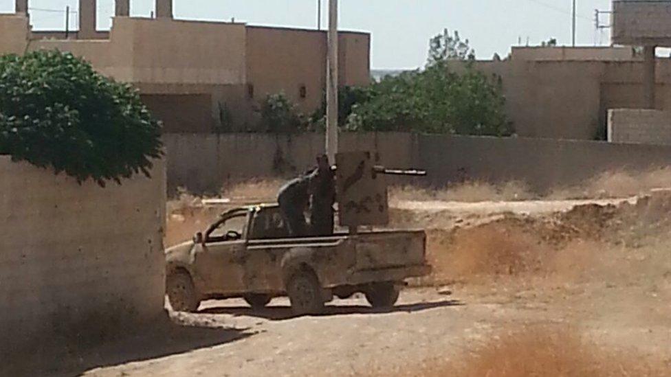 Kurdish fighters in Kobane on 25 June 2015