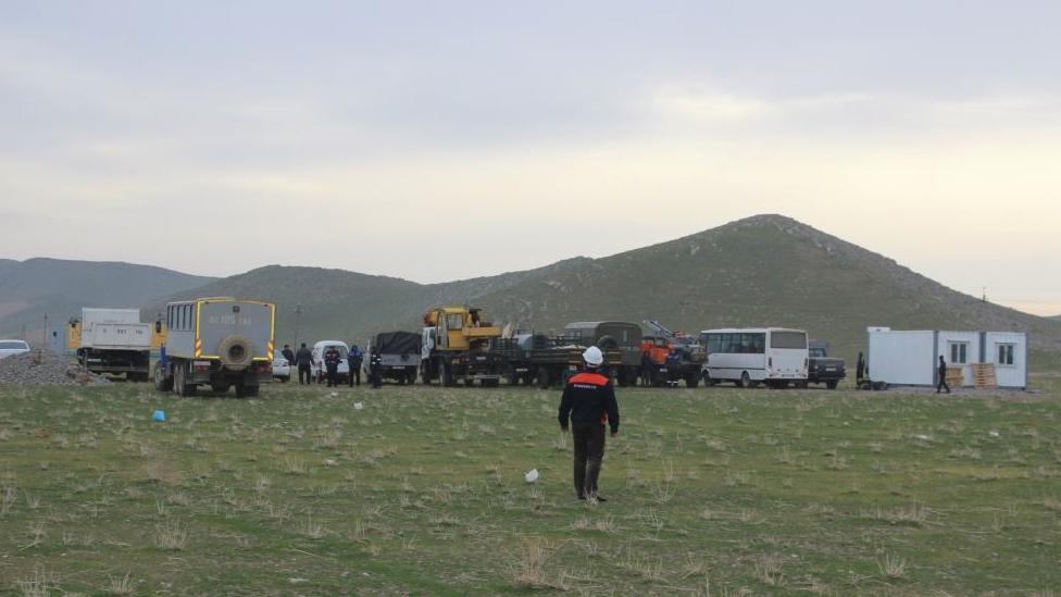 Nuclear plant survey work near Lake Turkan, Uzbekistan