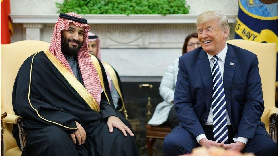 محمد بن سلمان و دونالد ترامب