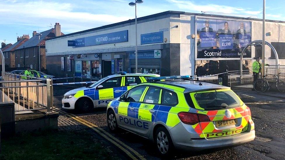 Man stabbed outside Edinburgh pharmacy