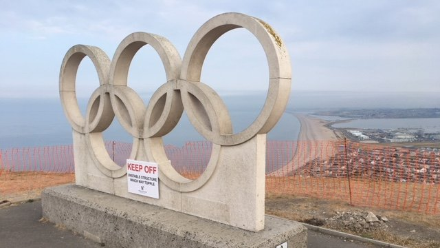 Portland's Olympic rings sculpture 'could topple over'