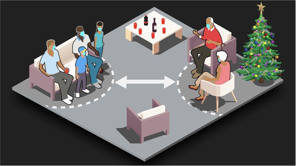Ilustración sobre reuniones en fiestas de fin de año