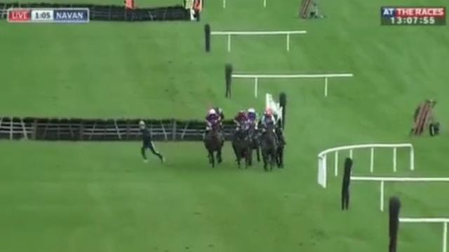 Jockey Evan Daly narrowly avoids serious injury while jogging on Navan course