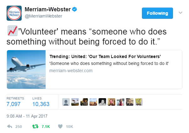 Merriam-Webster Twitter screenshot
