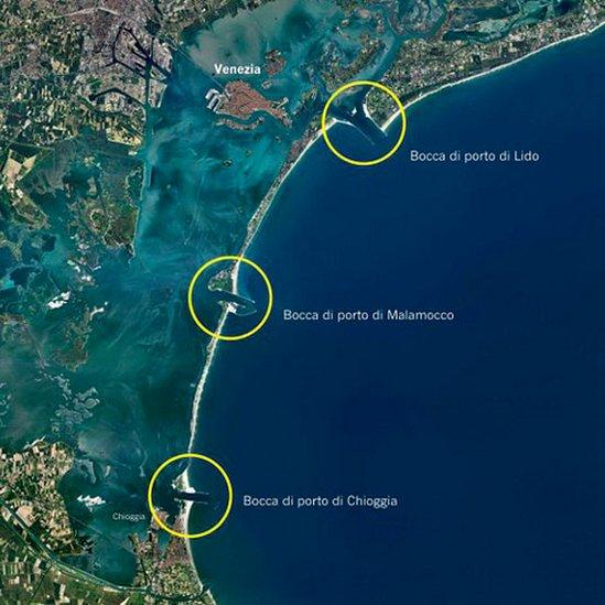 Mapa de las tres entradas