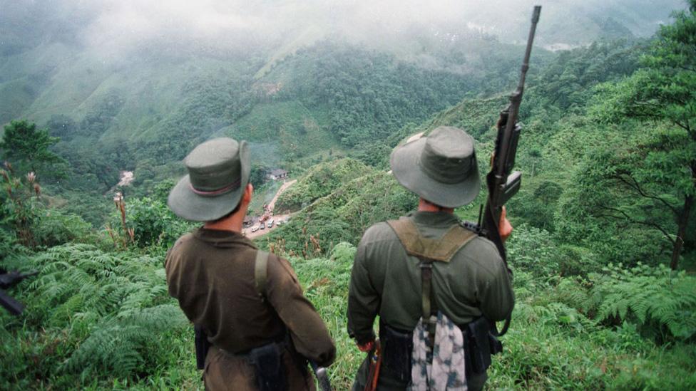 Guerrilleros colombianos