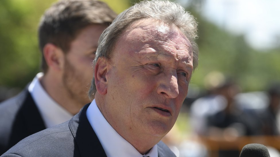 Emiliano Sala: Cardiff manager Warnock attends player's wake