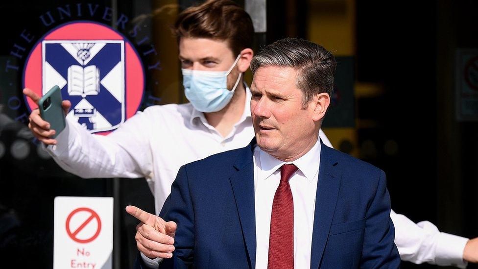 Sir Keir Starmer visits Edinburgh University