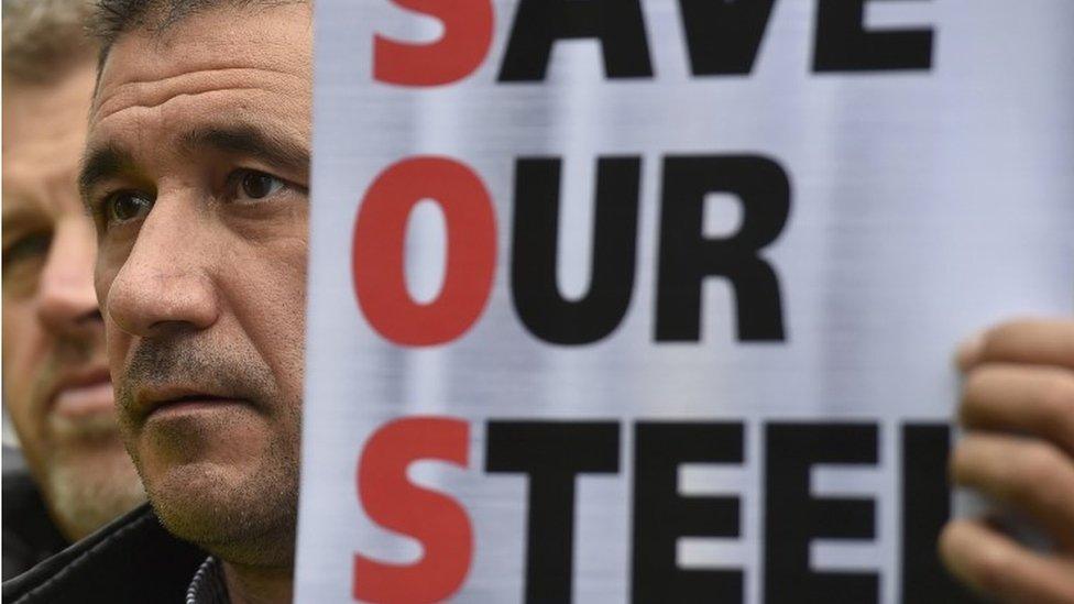 steel protestors