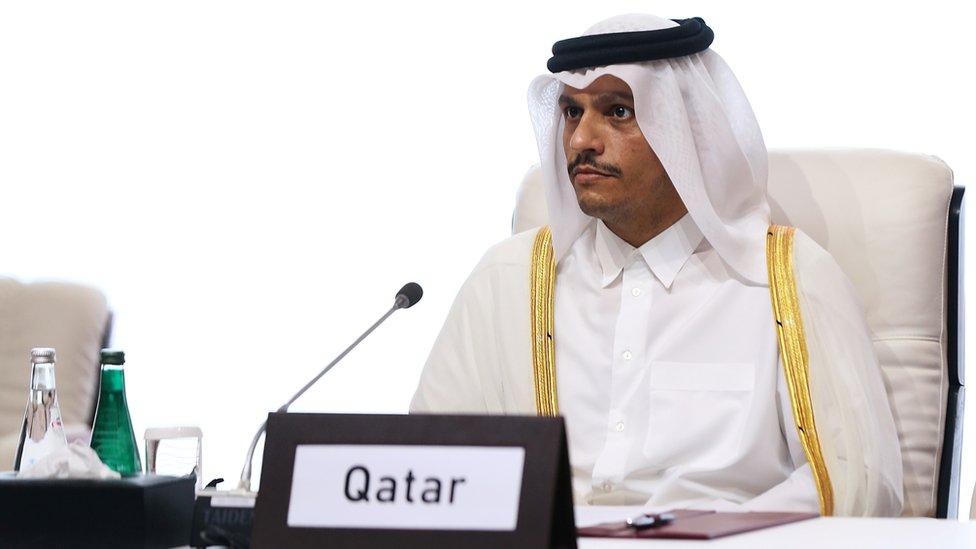 وزير خارجية قطر محمد بن عبد الرحمن آل ثاني.